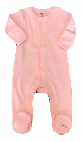 Dream Baby Layette Pink Cotton Dream Onesie