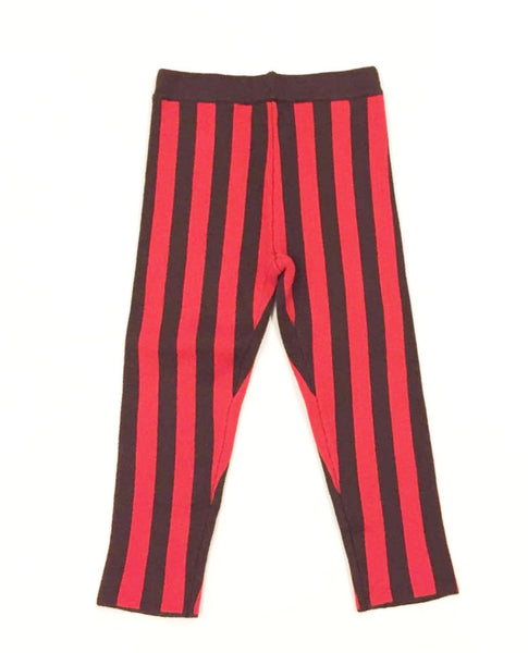 Noch Mini Stripe Knit Red Pants