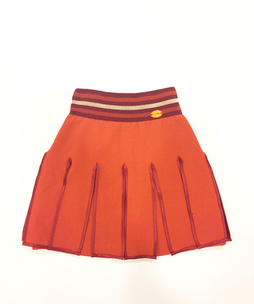 Val Max Pleated Mini Skirt