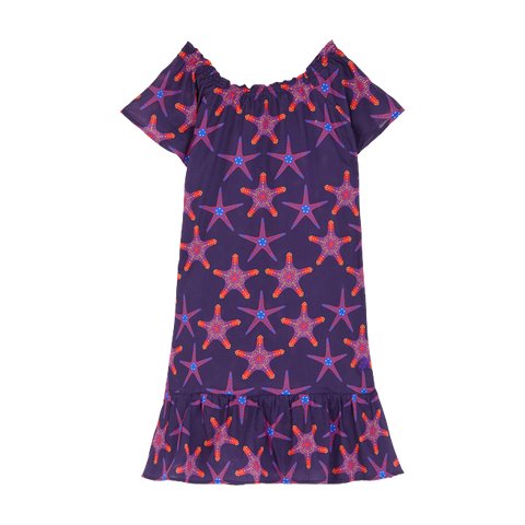 Vilebrequin Cotton Voile Girls Dress Starfish