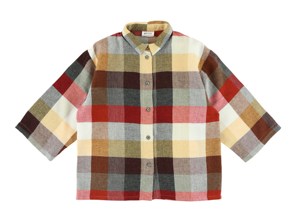 Morley Checked Three Quarter Sleeve Shirt