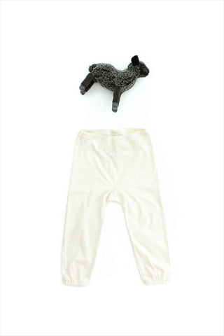Flora And Henri Cream Diagonal Pointelle Baby Pant