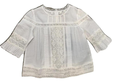 Cyrillus White Embroidery Blouse