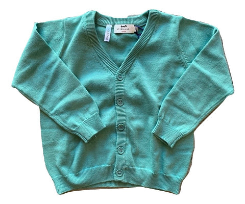 Cyrillus Green Button Cardigan Sweater