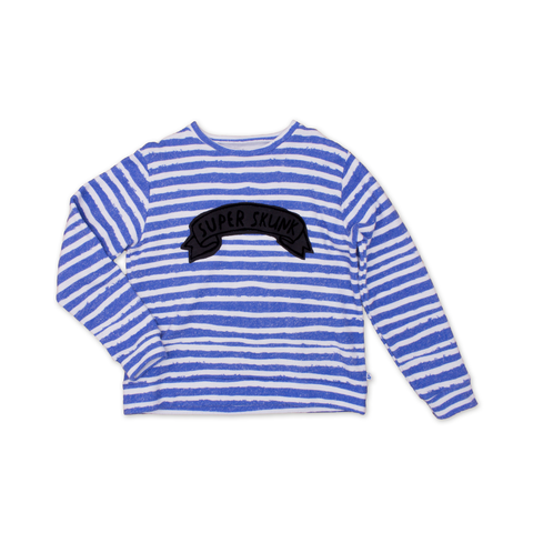 Noe & Zoe Blue Stripes Sweater