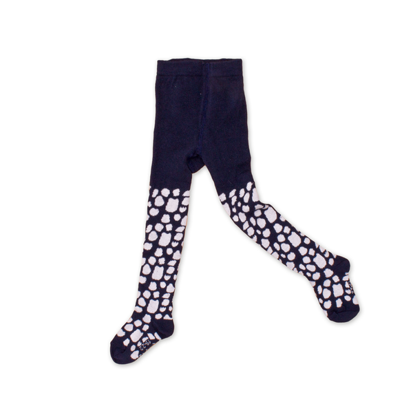 Noe & Zoe Navy Spotted Tights