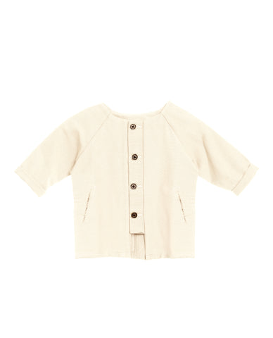 Little Creative Factory Ivory Dancer's Baby Button Coat