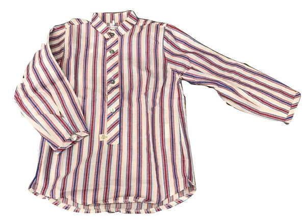 Pilar Batanero Blue & Red Stripe Shirt