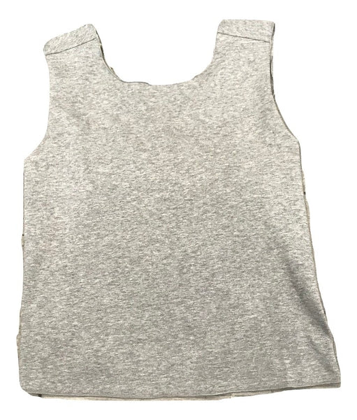 Essence Heather Grey Criss Cross Back Tee
