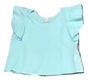 Little Miss Galia Aqua Blue Blouse