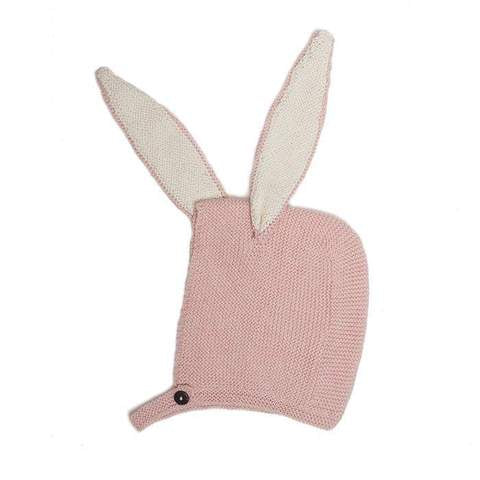 Oeuf Pink Bunny Knit Hat