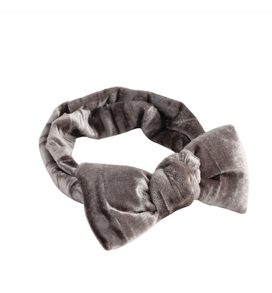 Arbii Grey Velvet Baby Band