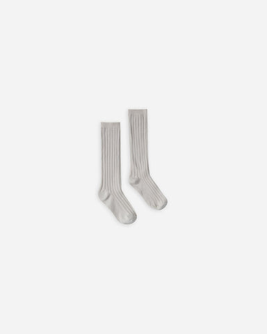 Rylee & Cru Dove Solid Knee Socks