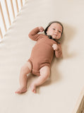 Quincy Mae Clay Ribbed Long Sleeve Onesie