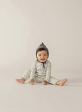 Quincy Mae Dove Ribbed Baby Jumpsuit