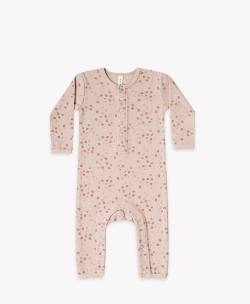 Quincy Mae Rose Ribbed Baby Jumpsuit