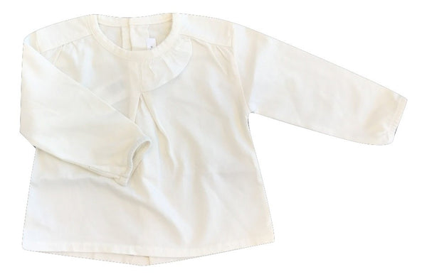 Message in the Bottle Cream Ruffle Baby Blouse