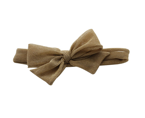 Arbii Gold Metallic Bow Baby Band