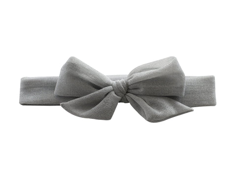Arbii Silver Metallic Bow Baby Band