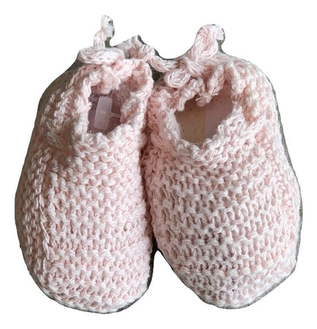 Message In The Bottle Baby Pink Gaby Knit Booties