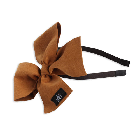 Arbii Luggage Suede Celebration Bow Headband