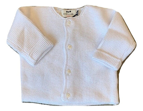 Cyrillus Paris Blanc Evan Knit Sweater