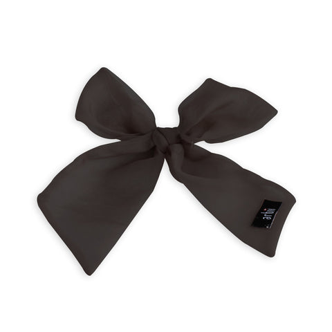 Arbii Black Sheer Small Oversized Bow Clip