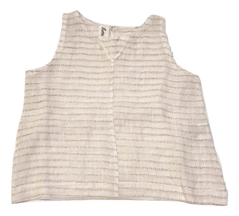 Latte e Biscotti Golden Stripe Sleeveless Top