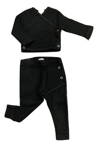 Violeta Black Rib Legging Set
