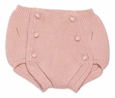 Normandie Pink Button Knit Bloomer