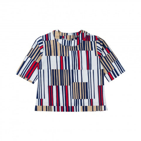 Bien Joli Multi Stripe Round Neck Top