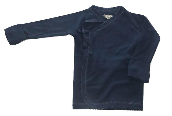 Flora and Henri Tie Front Long Sleeve Tee Navy