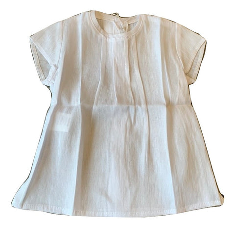 Pilar Batanero White Short Sleeve Shirt
