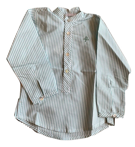 Pilar Batanero Green Stripes Shirt