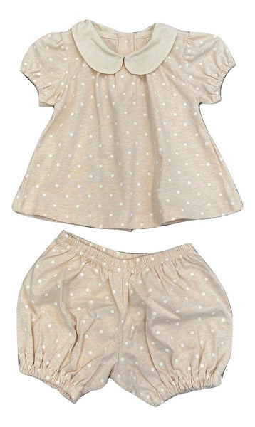 Naturapura Beige Polka Dot Set