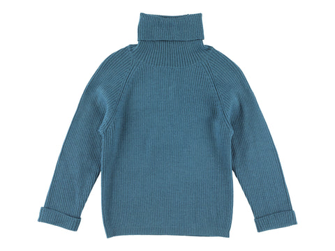 Morley Iris Blue Flint Turtleneck Sweater