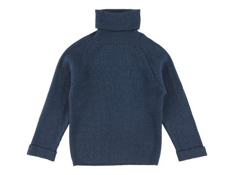 Morley Night Blue Flint Turtleneck Sweater