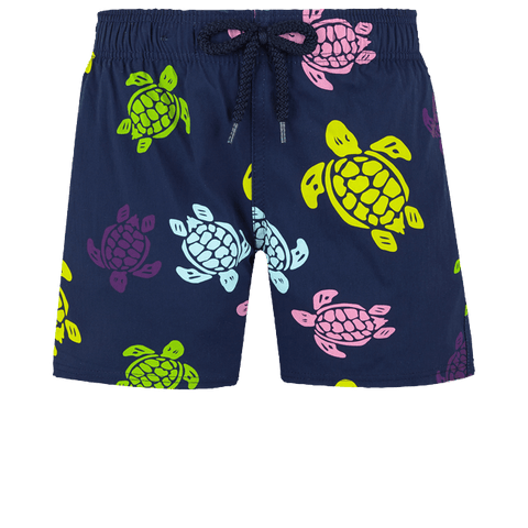 Vilebrequin Swim Trunks Over the Rainbow Turtles