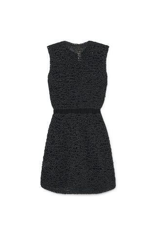 Little Creative Factory Black Tricot Knit Dress