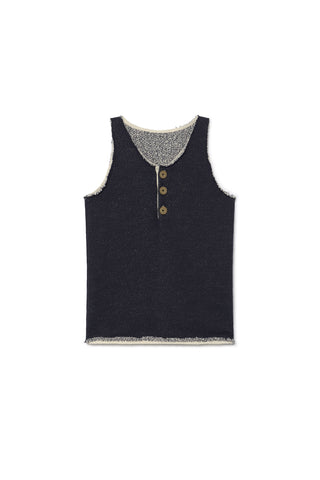 Little Creative Factory Indigo Denim Jersey Vest