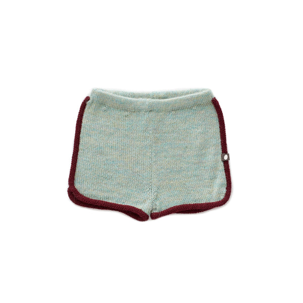 Oeuf Ocean & Burgundy 70's Knit Shorts