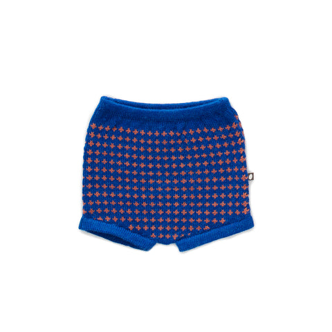 Oeuf Electric Blue & Apricot Knit Shorts