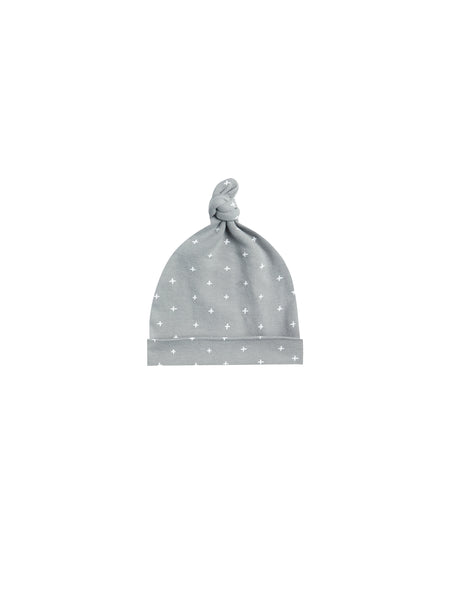 Quincy Mae Dusty Blue Baby Knotted Hat