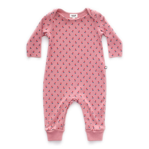 Oeuf Pink Tulip Footless Jumper