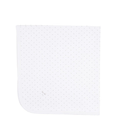Livly Stockholm White Silver Dots Saturday Blanket