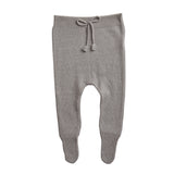 Belle Enfant Knit Charcoal Grey Footed Leggings
