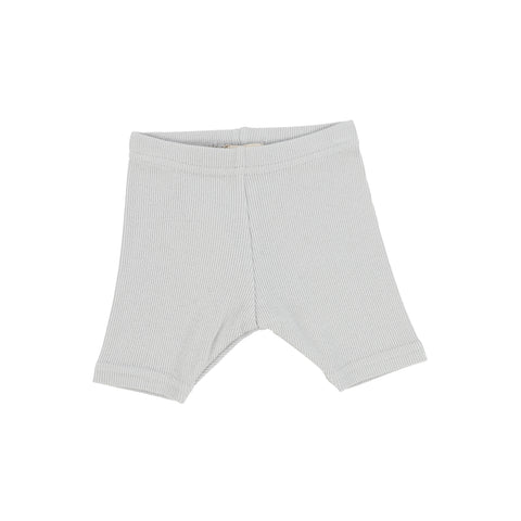 Lil Legs Light Grey Ribbed Biker Shorts