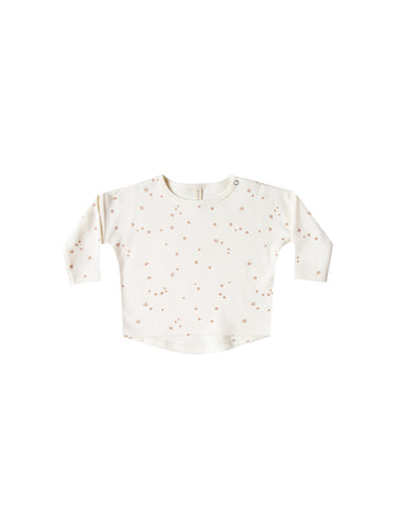 Quincy Mae Ivory Star Long Sleeve Tee Set