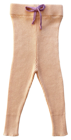 Mabli Peach Tesni Skinny Ribbed Leggings
