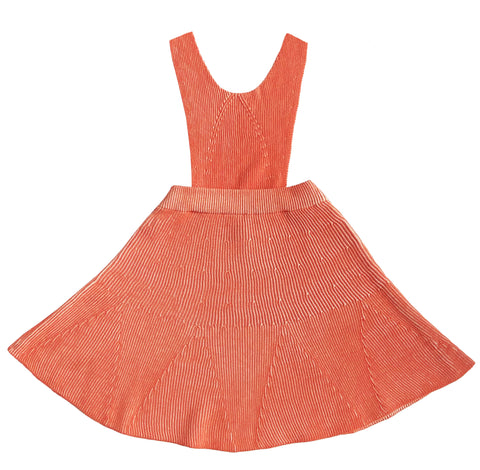 Mabli Burnt Sienna & Parchment Lola Pinafore Dress